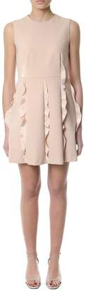 RED Valentino Short Dress With Ruffle Detail