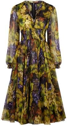 Dolce & Gabbana Grape Silk Dress