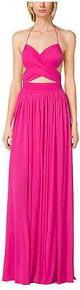 Michael Kors Matte-Jersey Cutout Maillot Gown
