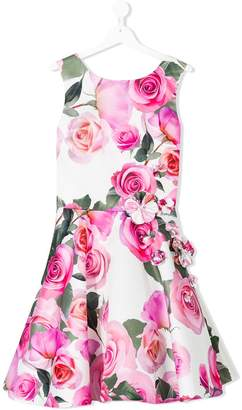 David Charles Kids floral print party dress