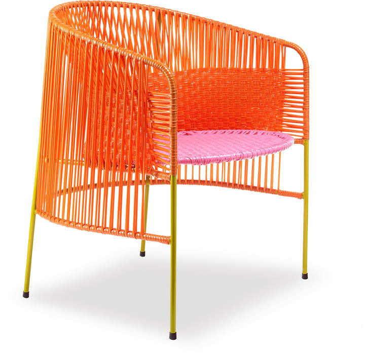ames - caribe Lounge Chair, orange / rosa / curry