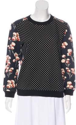 Tory Burch Printed Crew Neck Sweatshirt