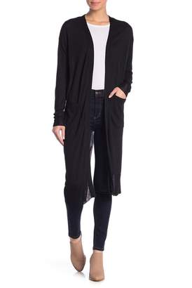Cotton Emporium Long Sleeve Open Front Cardigan