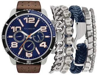 Rocawear Mens Brown Watch Boxed Set-Rmst5209s328-709
