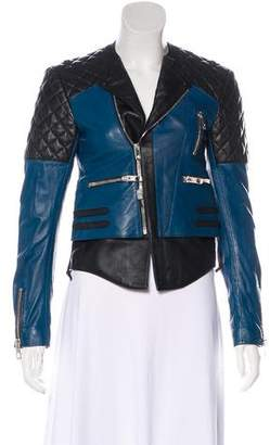 Balenciaga Leather Quilted Moto Jacket