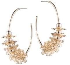 Dannijo Ella Embellished Hoop Earrings
