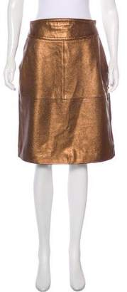 Marc by Marc Jacobs Metallic Leather Skirt