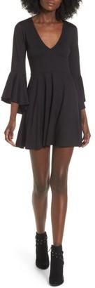 Women's Socialite Bell Sleeve Knit Dress $45 thestylecure.com