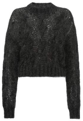 Prada Cropped Mohair Wool Sweater
