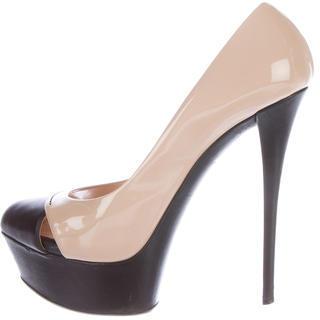 Casadei Patent Leather Platform Pumps $125 thestylecure.com