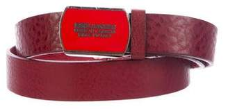 DSQUARED2 Distressed Pebbled Leather Belt
