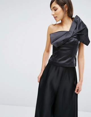Oasis Satin Bow Detail Top $76 thestylecure.com