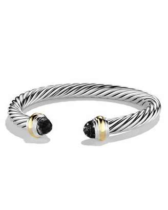 David Yurman Cable Classics Bracelet with Onyx and Gold $695 thestylecure.com