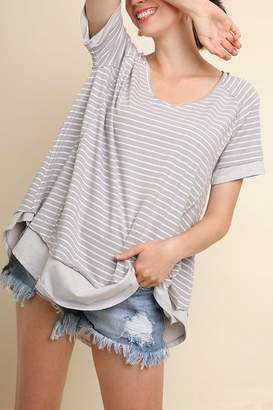 Umgee USA Stripe Vneck Top