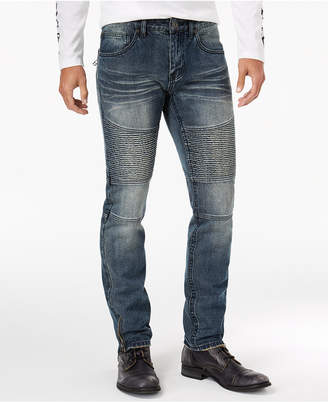INC International Concepts I.n.c. Men Skinny-Fit Moto Jeans