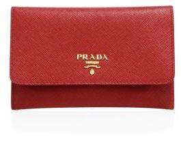 pradaPrada Saffiano Leather Passport Holder & Card Case