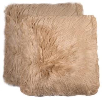 LUXE FAUX FUR 2-Pack Belton Faux Fur Pillow