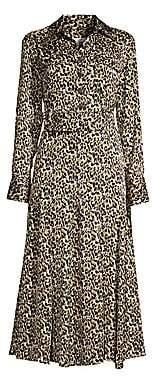 Equipment Women's Lenora Animal-Print Midi Dress