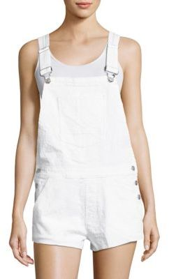 Hudson Jeans Florence Distressed Denim Overalls $265 thestylecure.com