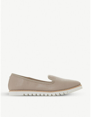 Dune Galleon reptile-effect leather loafers