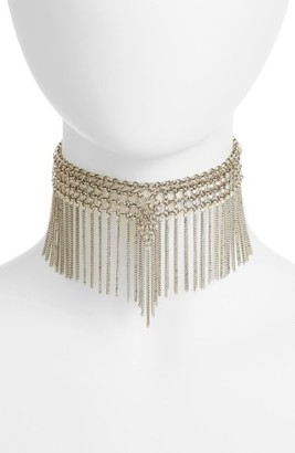 Women's Jules Smith Chain Fringe Choker $60 thestylecure.com