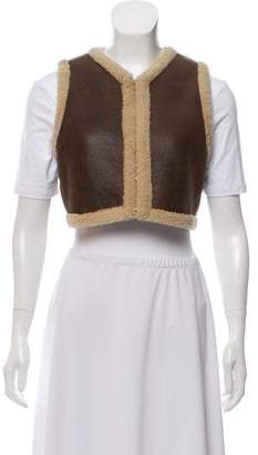 Ralph Lauren Leather-Fur Vest
