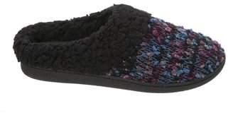 Dearfoams Women's Tweed Knit Clog in Wide Width Slippers