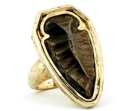 House of Harlow 1960 - Arrowhead Cocktail Ring - 14 Karat Yellow Gold Plated