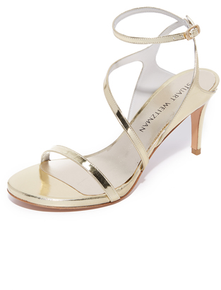 Stuart Weitzman Sultry Mid Sandals $435 thestylecure.com