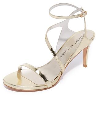 Stuart Weitzman Sultry Mid Sandals $435 thestylecure.com