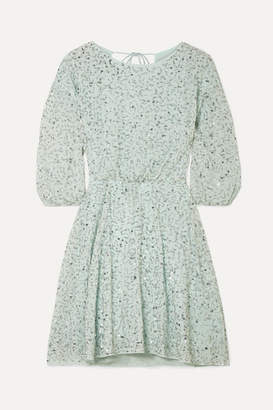 fe6a6b68b022 Alice + Olivia Palmira Embellished Chiffon Mini Dress - Mint