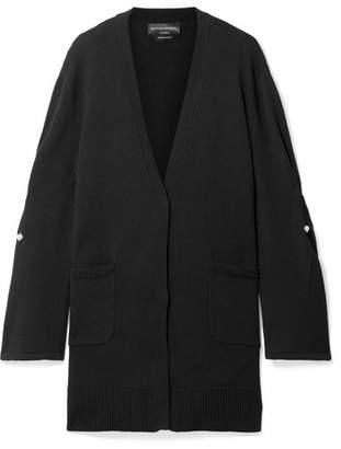 Mother of Pearl Maudi Oversized Embellished Organic Cotton Cardigan - Black