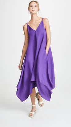 Salvatore Ferragamo Silk V Neck Dress