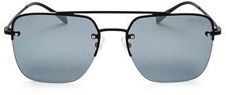 Prada Navigator Brow Bar Square Sunglasses, 59mm