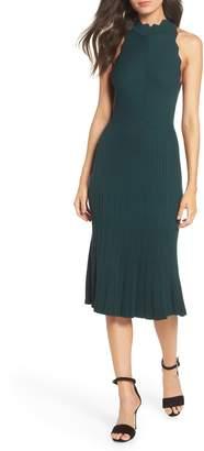 Adelyn Rae Freida Scallop Sweater Dress