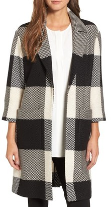 Women's Emerson Rose Check Open Front Topper $199 thestylecure.com