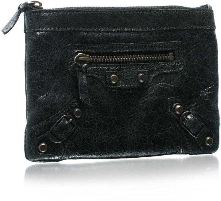 Balenciaga Small Studded Leather Purse