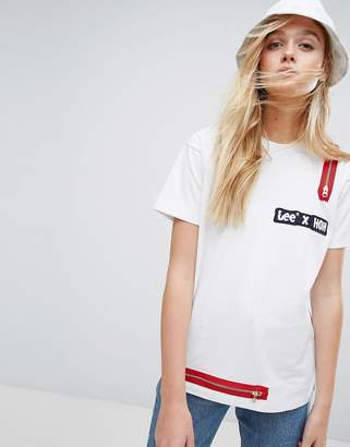 House of Holland X Lee T Shirt with Zip Detail $149 thestylecure.com