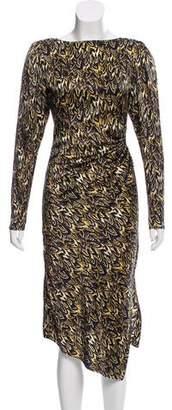 Thomas Wylde Asymmetrical Printed Dress