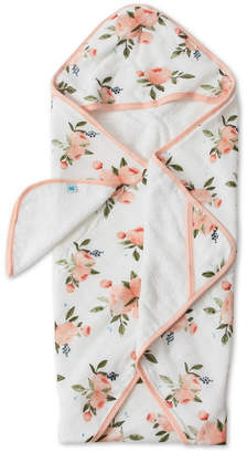 Little Unicorn Watercolor Roses Cotton Hooded Towel Wash Cloth Set