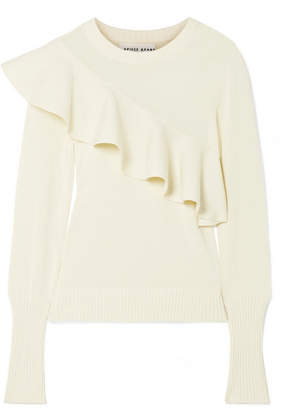 Apiece Apart Sterre Ruffled Cotton Sweater - Ivory
