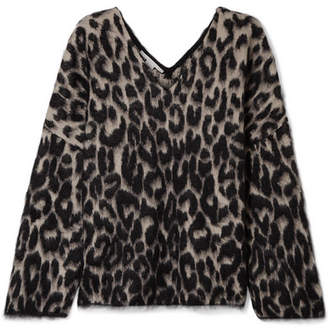 Stella McCartney Brushed Cotton-blend Jacquard Sweater - Leopard print