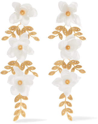 Mallarino Gaby Gold Vermeil Silk Earrings - one size