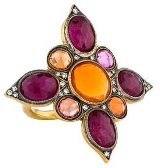 Cathy Waterman 22K Arabian Window Ring