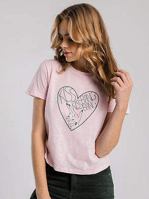 Kiss Kiss Shoes Lulu & Rose New Lulu & Rose Womens Lulu Rose T Shirt In Pink Tops & T Shirts