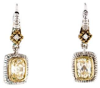 Judith Ripka Crystal & Diamond Drop Earrings