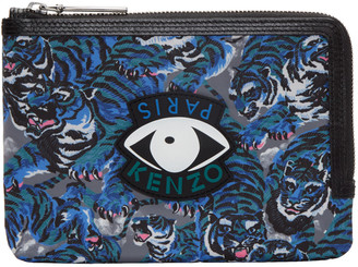 Kenzo Blue Flying Tiger Eyes Pouch $165 thestylecure.com