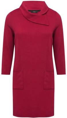 M&Co Split neck soft touch dress