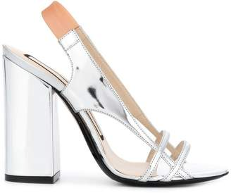 3a8bbba054 Silver Chunky Heel Sandals For Women - ShopStyle Canada