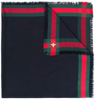 Gucci GG Web L'Aveugle Par Amour scarf